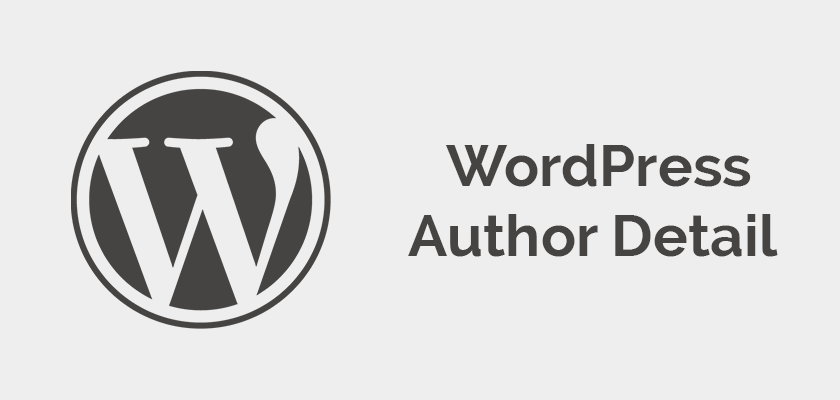 Easy way to show author details in WordPress